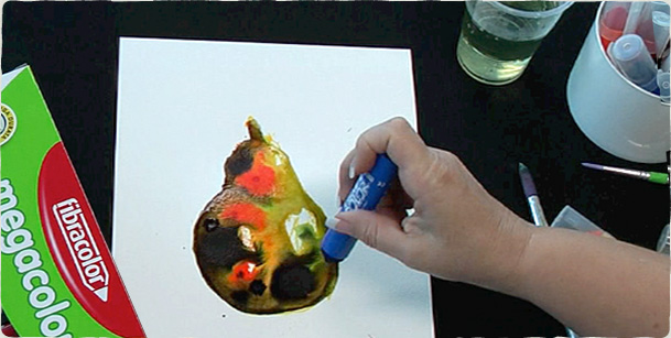 Mega Markers pear artwork