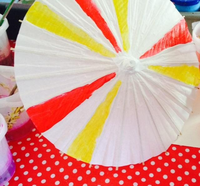 Decorating Paper Parasols - Crafty Ideas