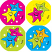 Star Fluoro Stickers 96 pack (FS210)