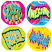 Super / Awesome Fluoro Sticker 96 pack (FS213)