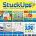 coloured stuck ups