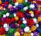 Pom Poms Assorted Glitter Colours