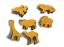 Felt Shapes Zoo Pack