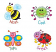 Kids Drawn Bugs Stickers 96 pack (MS026)