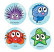 Reef Creatures Stickers 96 pack (MS018)