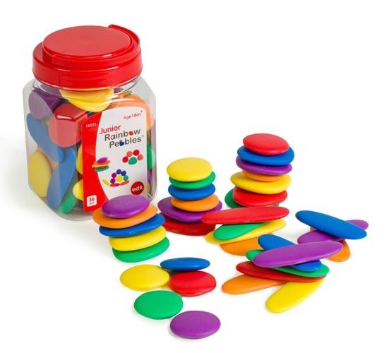 Rainbow Pebbles Jar of 36 - Bright Colours