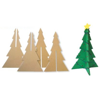 3D Wooden Xmas Tree