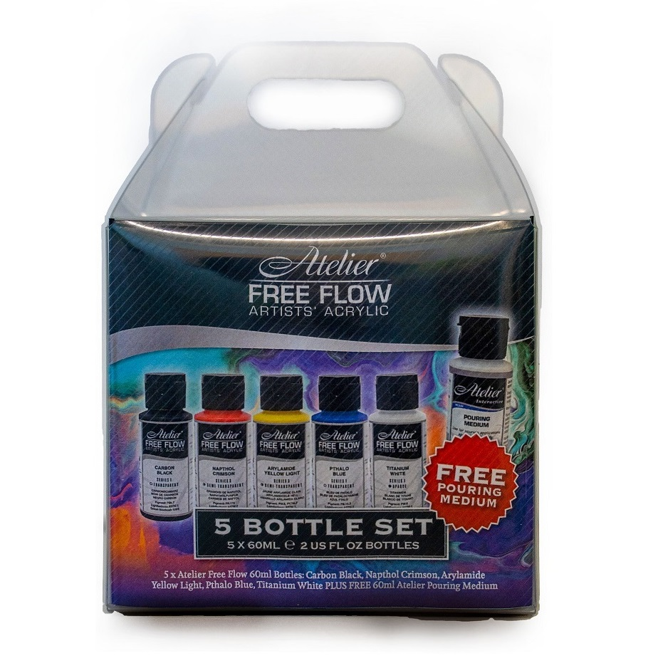 Atelier Free Flow Artists Acrylic - Set of 5