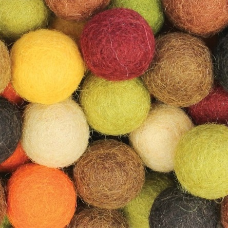 Felt Balls Earth Colours 50pack
