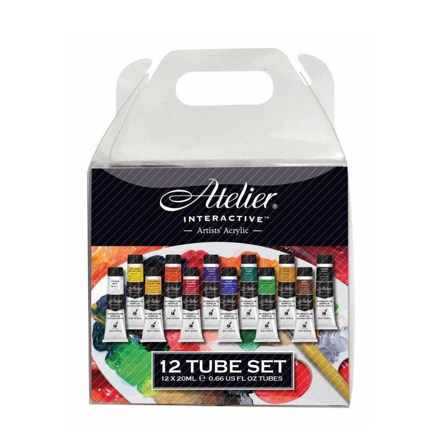 Atelier Interactive Acrylic Paint Set - 12 x 20ml Tubes