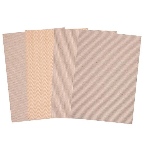 Corrugated Natural Card A4