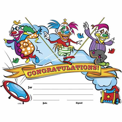 Clowns Certificate