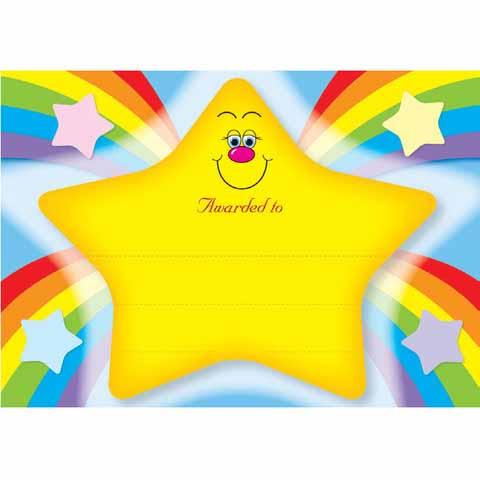 Rainbow Star Certificate