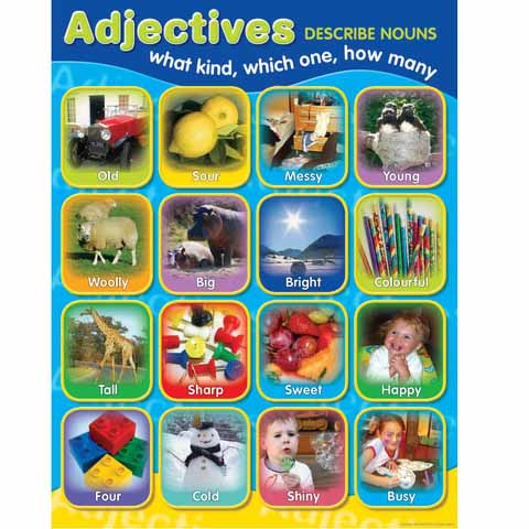 Adjectives Photographic Chart