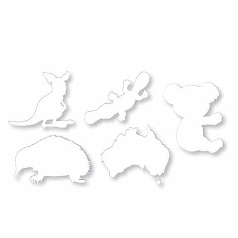 Cardboard Australian Animals 30 pack