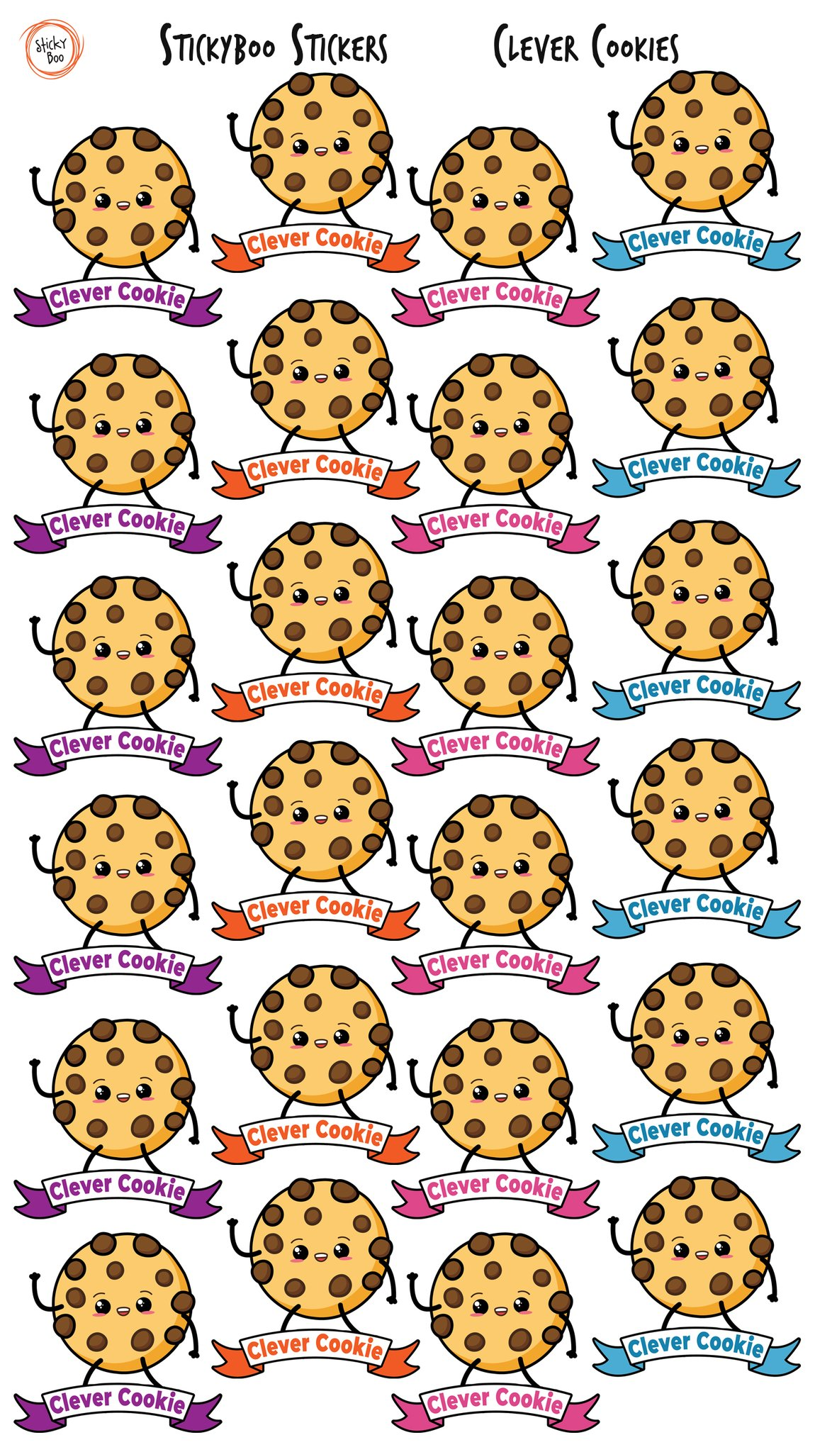 Sticky Boo Reward Stickers - Clever Cookie