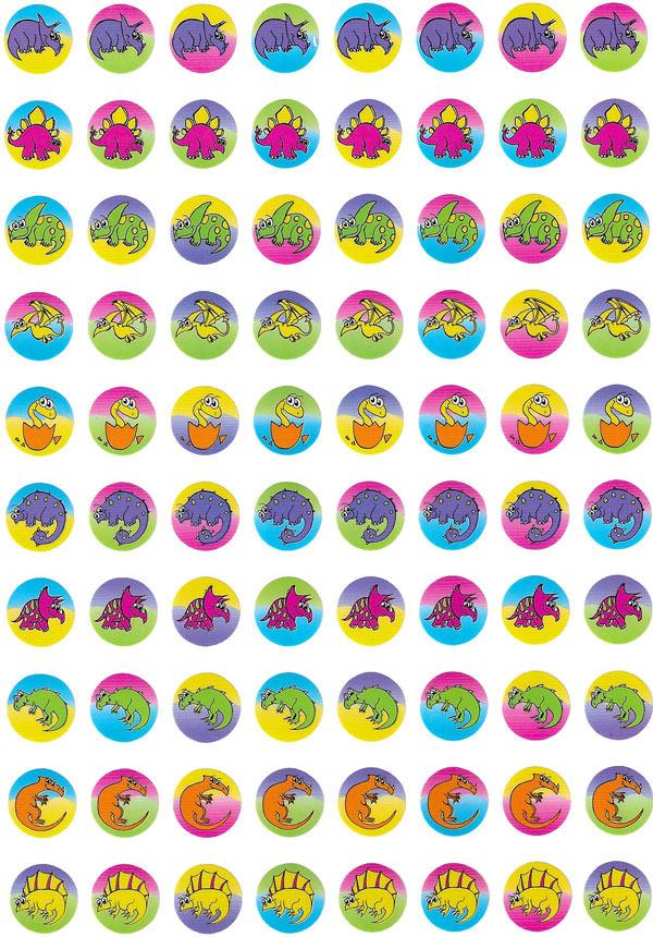 Dinosaur Dot Stickers 800 pack (DD402)