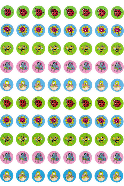 Spring Dot Stickers 800 pack (DD406)