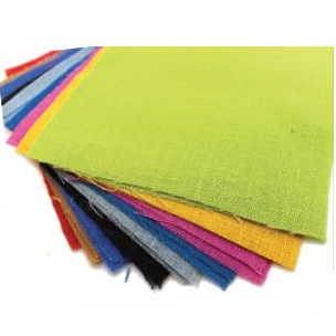 Hessian Coloured Squares 20pack