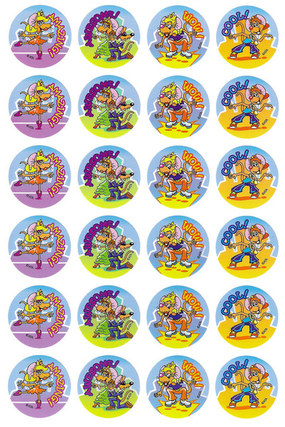 Dancing Mice Stickers 96 pack (MS017)