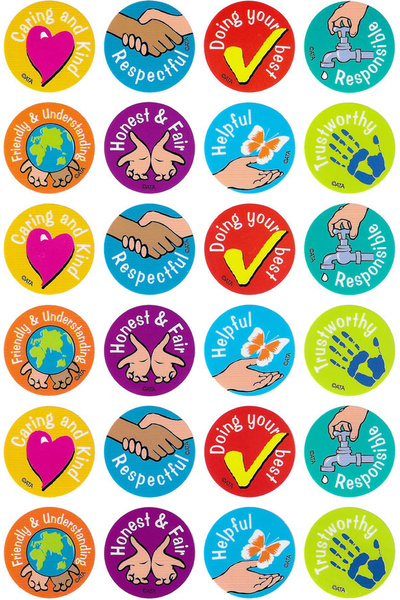Character Values Merit Stickers 96 pack (MS032)