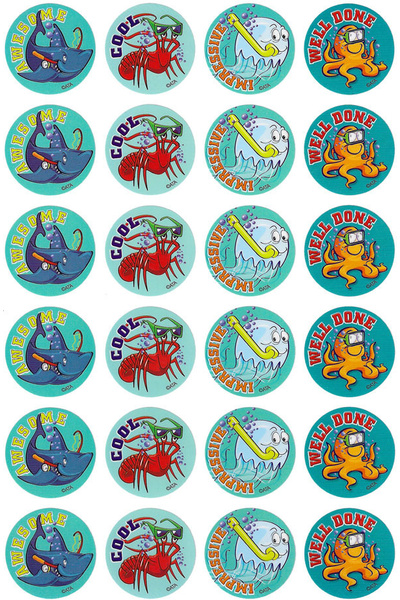Sea Creatures Stickers 96 pack (MS075)