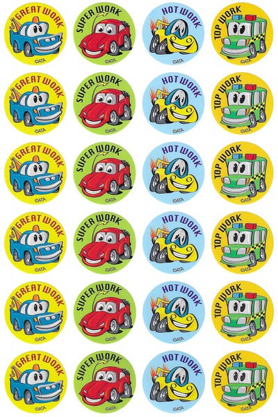 Crazy Cars Stickers 96 pack (MS111)