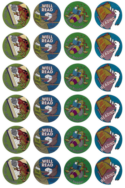 Bugs and Birds Reading Metallic Stickers 96 pack