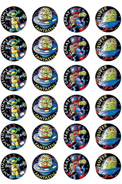 Invaders Metallic Stickers 96 pack (MT315)