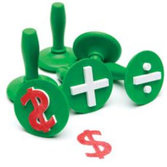 Stampers Handle Maths Symbols 6pk