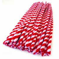 Pipecleaners Candy Cane 50pack 30cm