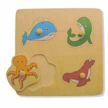 Sea Life Large Knob Puzzle