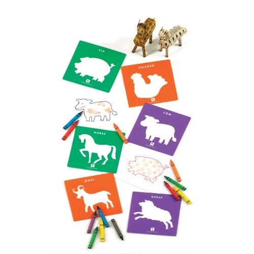 Stencil Farmyard Animals