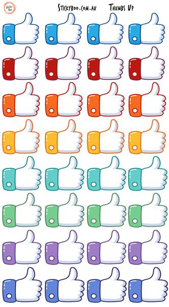 Sticky Boo Reward Stickers - Thumbs Up