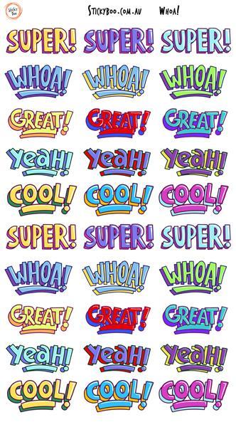 Sticky Boo Reward Stickers - Whoa!