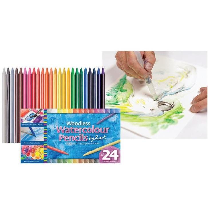 Woodless Watercolour Pencils 24's