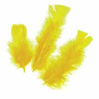 Feathers 60 grams Yellow
