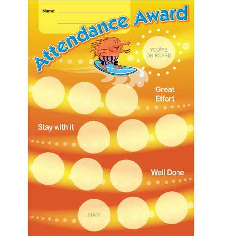 Attendance Award Achievement Card