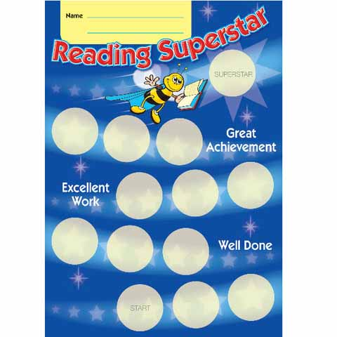 Reading Superstar Achievement Card