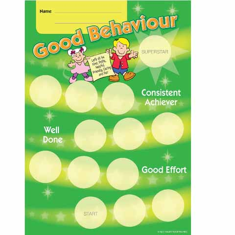 Good Behaviour Award Achievement Card