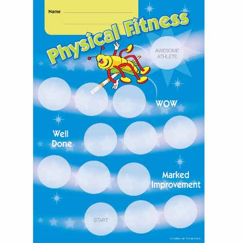 Physical Education Award Achievement Card