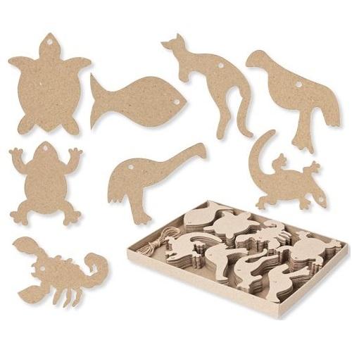 Paper Mache Australian Animals 80pack  (8 designs)