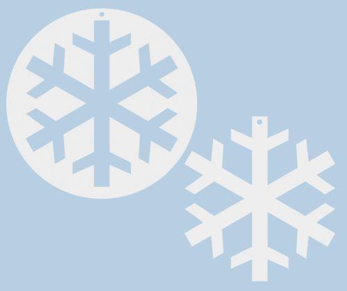 Cardboard Large Snowflake 10's