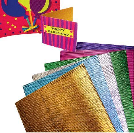 Corrugated Board Metallic A4 20pack