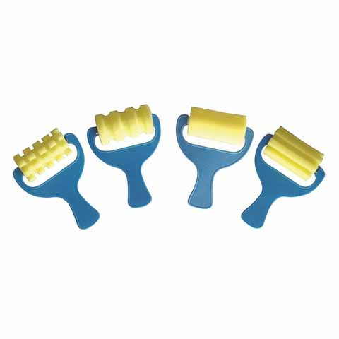 Corrugated Sponge Rollers 4 pack