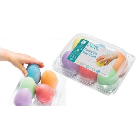 Easi-Grip Egg Chalk set of 6