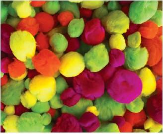 Pom Poms Assorted Fluoro Colours