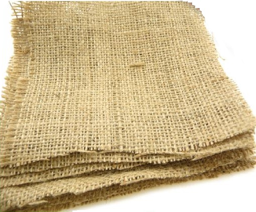 Hessian Squares Natural 10 pack