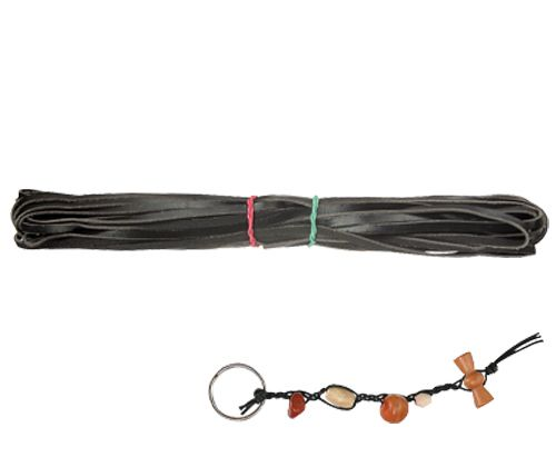Leather Thonging 10m x 3.5mm Black