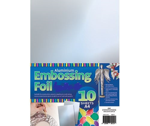 Embossing Foil Silver A4 - 1O pack